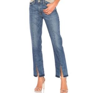 Frame Denim Le Nouveau Straight Front Slit Jeans